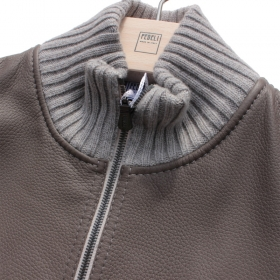 FEDELI deer leather cashmere j...